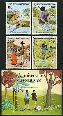 Geeignet FüR MäNner Kongo Pr 631-634,635 S/s,mnh.scouting Year.reading Map,helfende Damen,wander Frauen Und Kinder