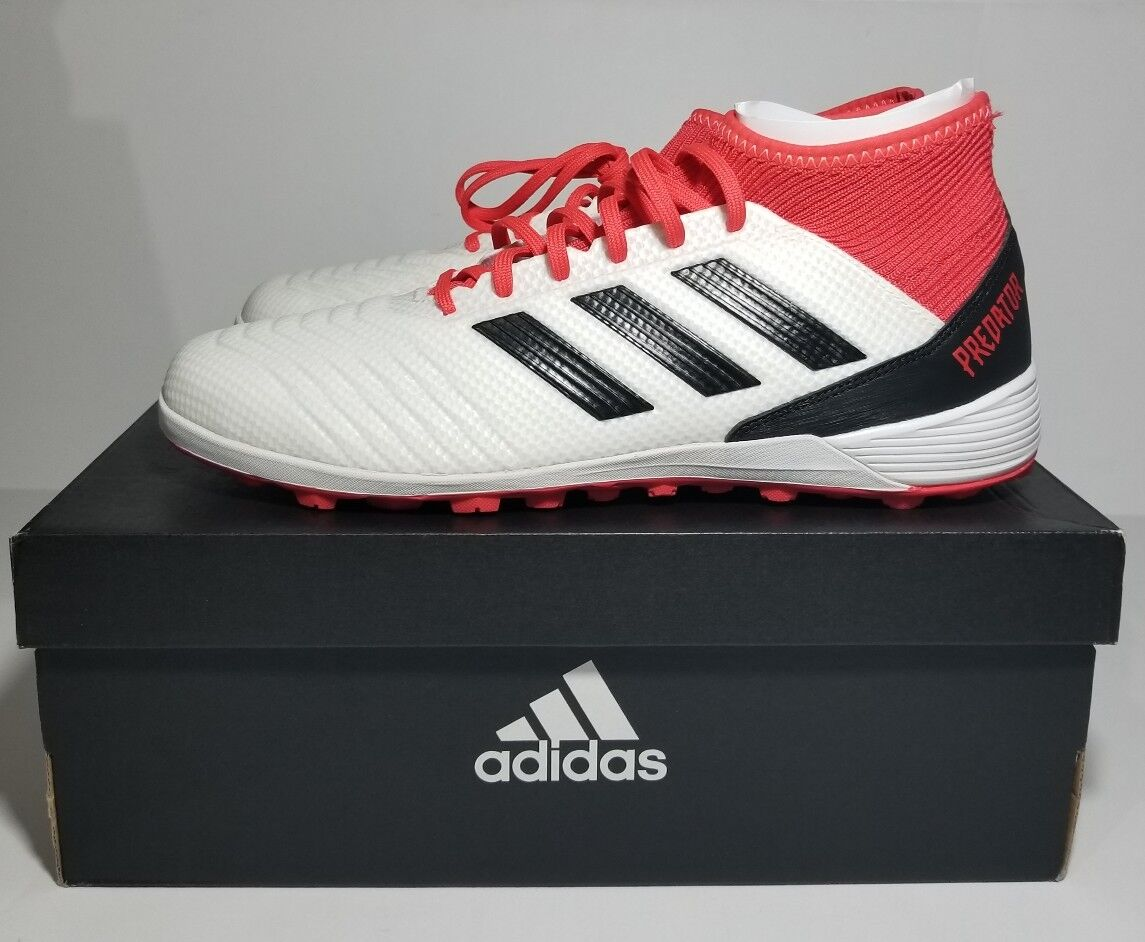 0e13bb20009d ADIDAS PREDATOR TANGO 18.3 TF Turf Soccer cleats cleats cleats White Red  Coral CP9930 SZ 9.5