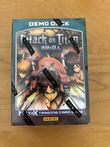 Gen Con 2019 Panini Meta X Attack On Titan TCG New Sealed Demo Deck