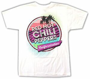 Image is loading RED-HOT-CHILI-PEPPERS-CALIFORNICATION-80s-LOGO-WHITE- 2ae0b33e61a