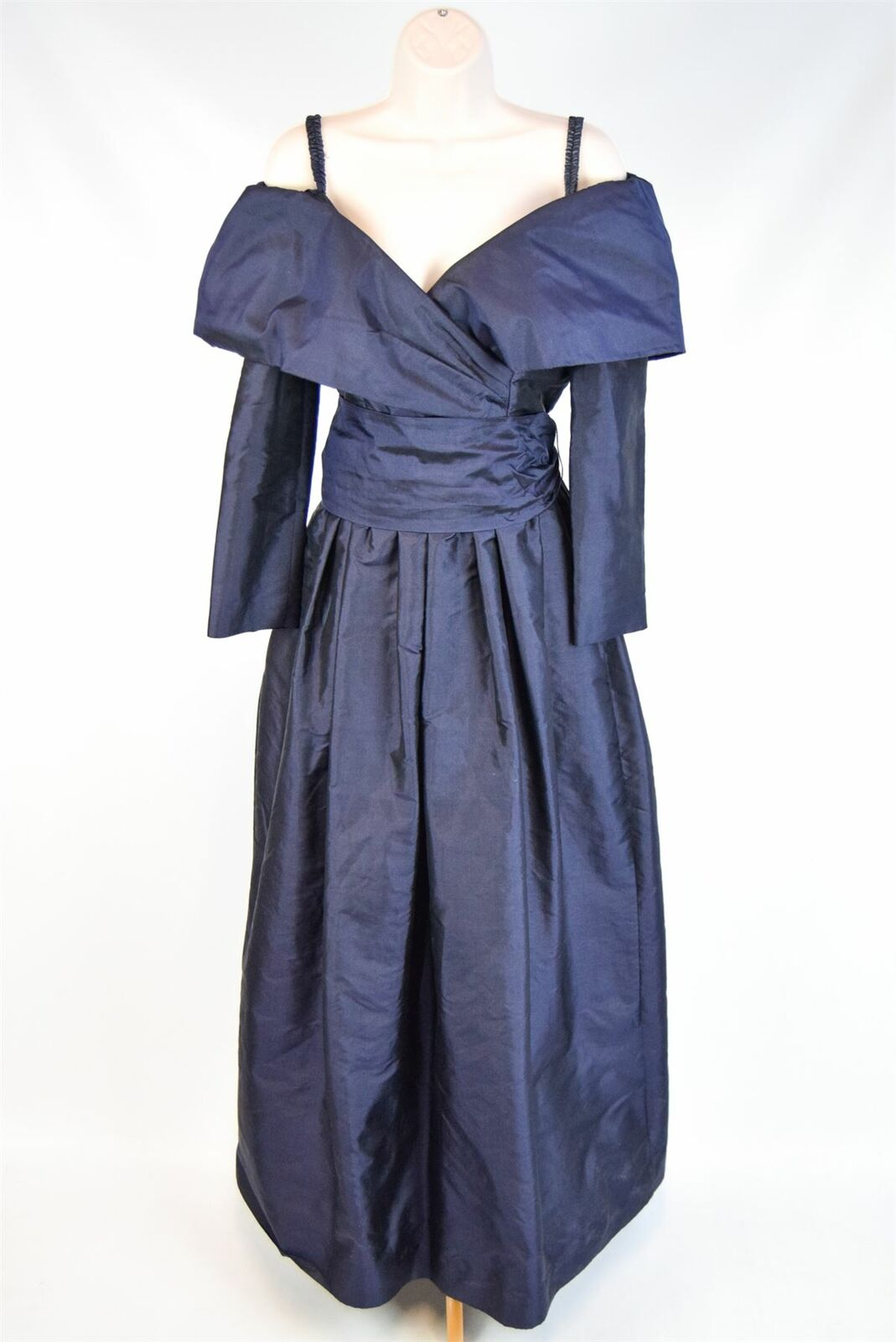 CATHERINE REGEHR Navy bluee 100% Silk Evening Dress, Size S S S 932e13