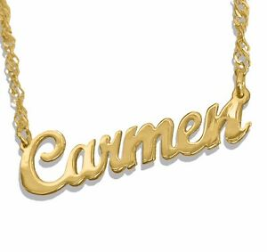 Personalized name necklace 24k gold plated any name necklace image is loading personalized name necklace 24k gold plated any name aloadofball Image collections