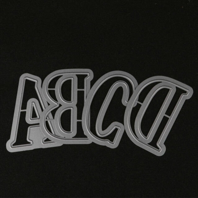 Large English Alphabet Letters Metal Cutting Dies for DIY Scrapbooking Photo