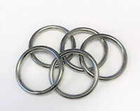 5pc Set Stainless Steel T316 Welded Round Rings - 1/4