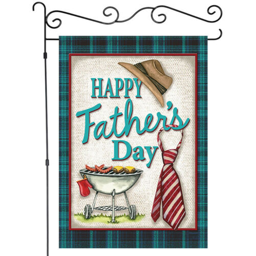 Details about  /Father/'s Day Barbecue and Tie Garden Flag House Decor Banner Linen Double-sided