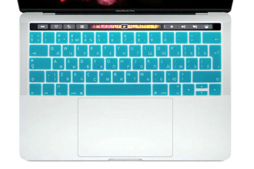 "EU Russian Silicone Keyboard Skin For Mac 13/""15Touch Bar A1706 A1707 A1989 A1990"