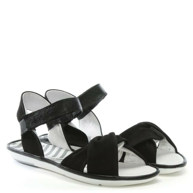 Fly London Women's Mome Black Suede Sandals