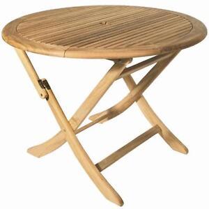Gartentisch holz rund  Ploss Gartentisch 100 cm Arlington Klapptisch Tisch Holztisch Teak ...