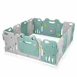 Laufgitter-Laufstall-Baby-Absperrgitter-Krabbelgitter-Schutzgitter-Kunststoff