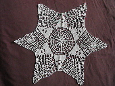 #1266 Beautiful Vintage Hand Made Doily 53cm(21'') At Any Cost