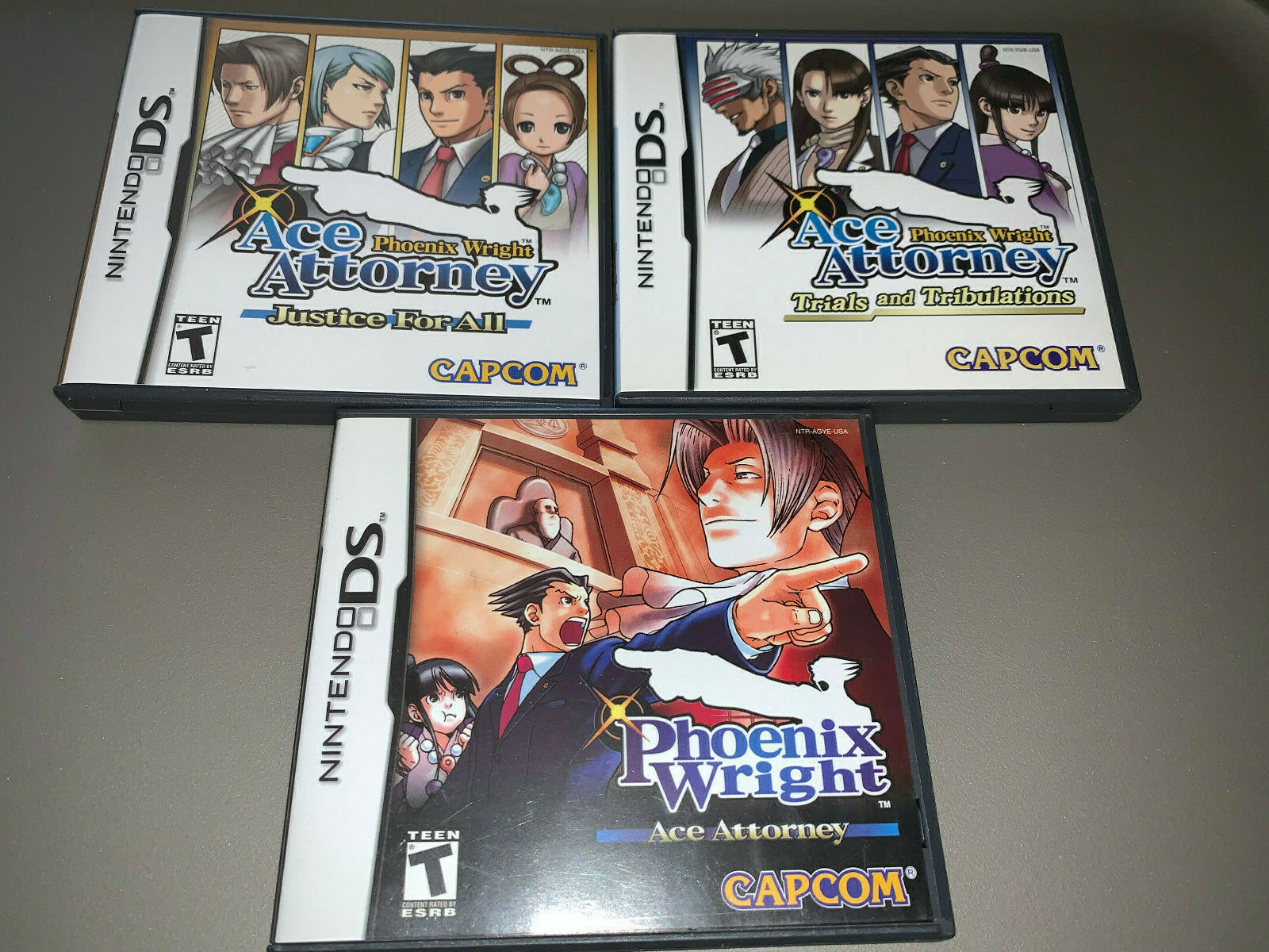 Phoenix Wright Ace Attorney, Justice For All, & Trials and Tribulations 1