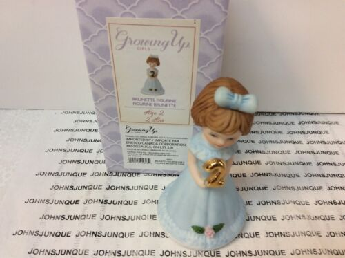 GROWING UP GIRL ENESCO BRUNETTE AGE 2 NEW IN BOX FREE SHIPPING IN US!