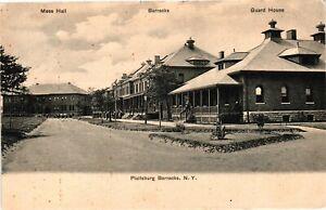 Vintage Postcard - Mess Hall Barracks Guard House Plattsburg New York NY #4168