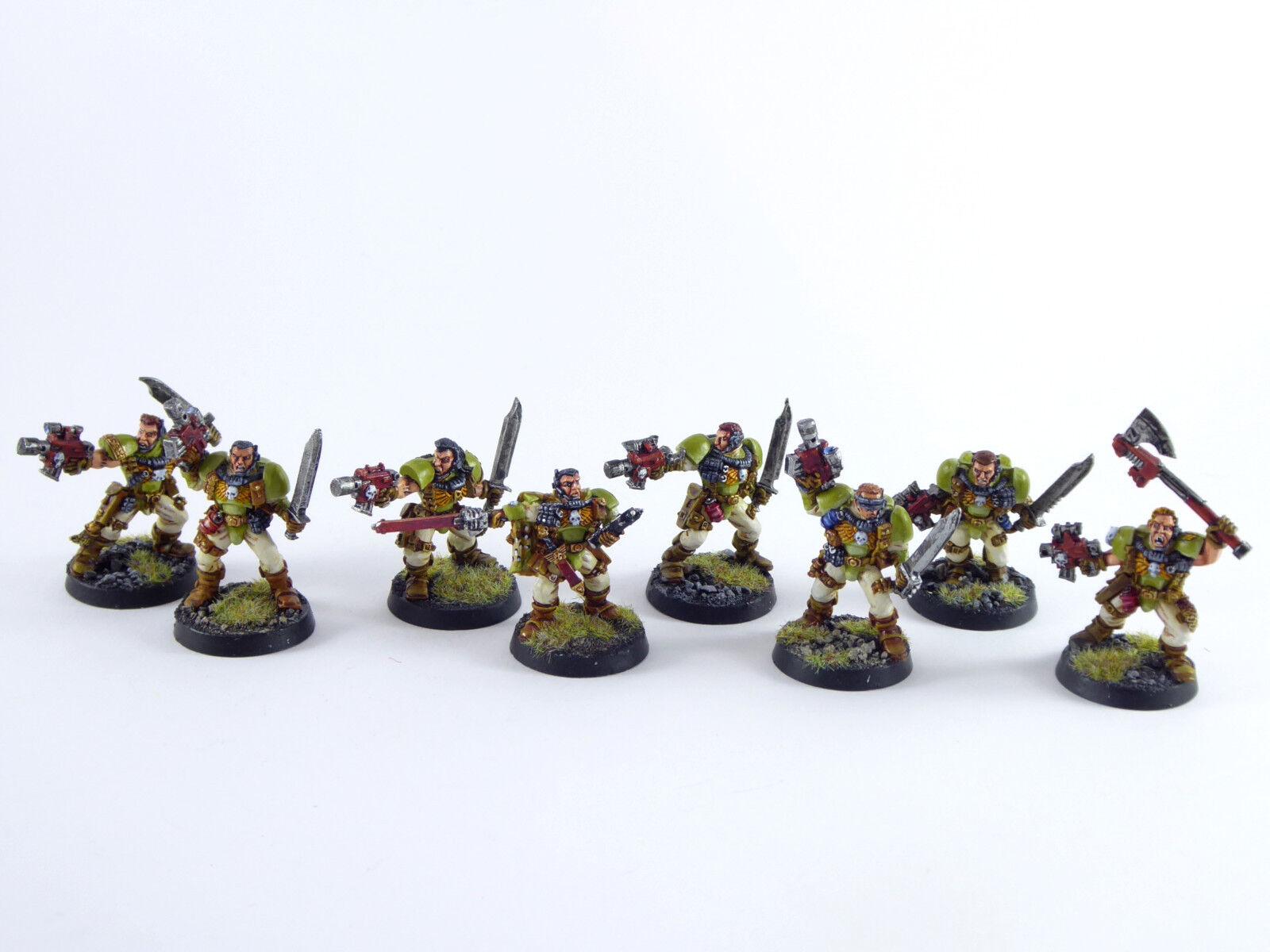 8 x  scouts degli spazio Marine del Warhammer 40k-MOLTO BEN DIPINTO METtuttiO - 4  Spedizione gratuita al 100%
