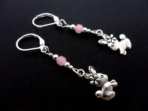 Hook Earrings Jade Pink Double Ball Earrings Sterling Silver Girl Earrings Natural Stone Earrings Summer Earrings