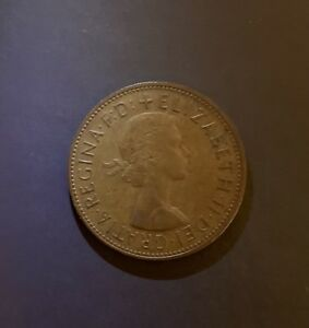 1967-Great-Britain-UK-One-Penny-Elizabeth-II-Gratia-Regina-FD