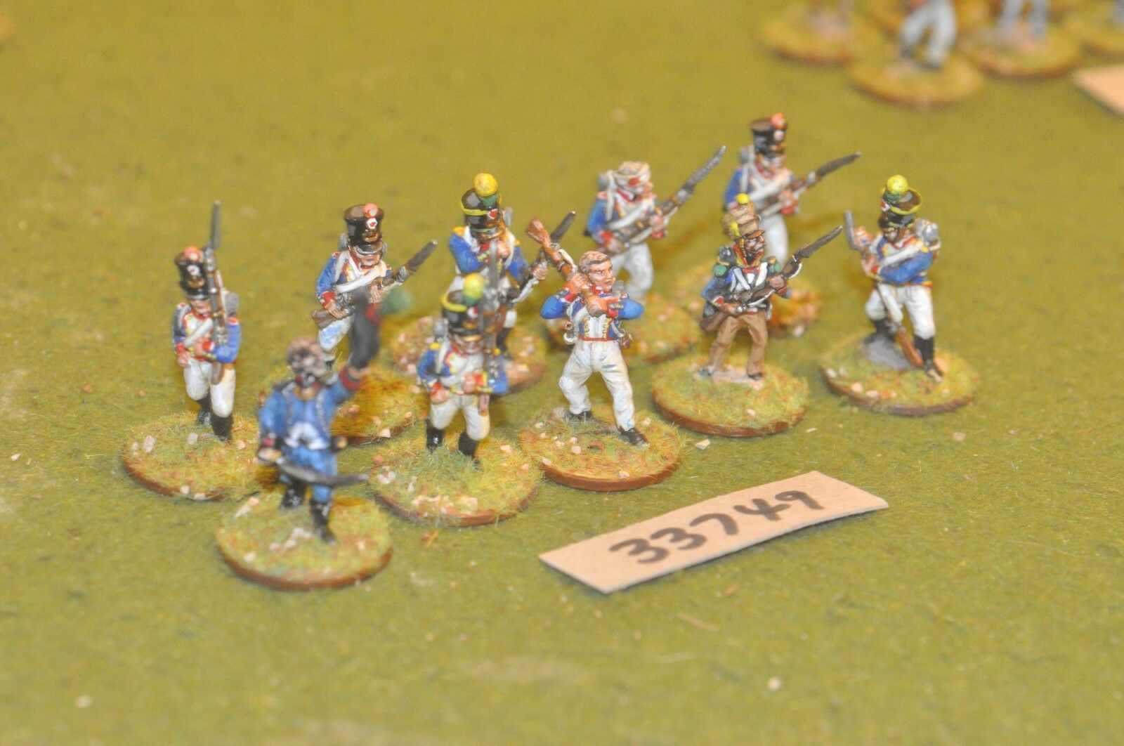 25mm napoleonic   french - line 10 figures - inf (33749)