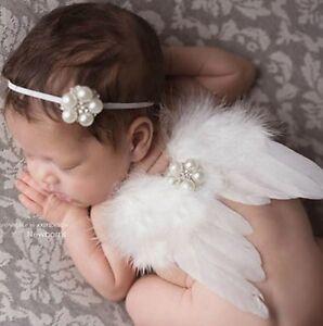 Other Newborn-5t Girls Clothes Flügel Kleiner Engel 0-6 Monate Weiß Rosa Top Watermelons Reliable Baby Fotoshooting Kostüm 2-tlg