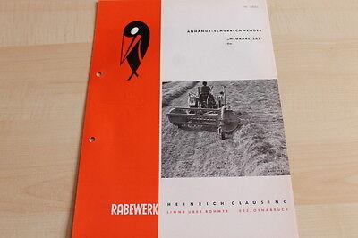 Heurabe 282 Rabewerk Schubrechwender Prospekt 06/1961 Sweet-Tempered 144513