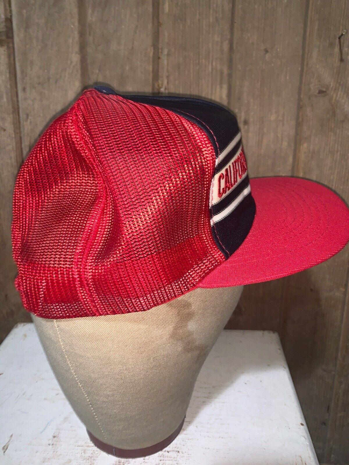 VINTAGE 80s Rare California Angels Red MLB Baseba… - image 6