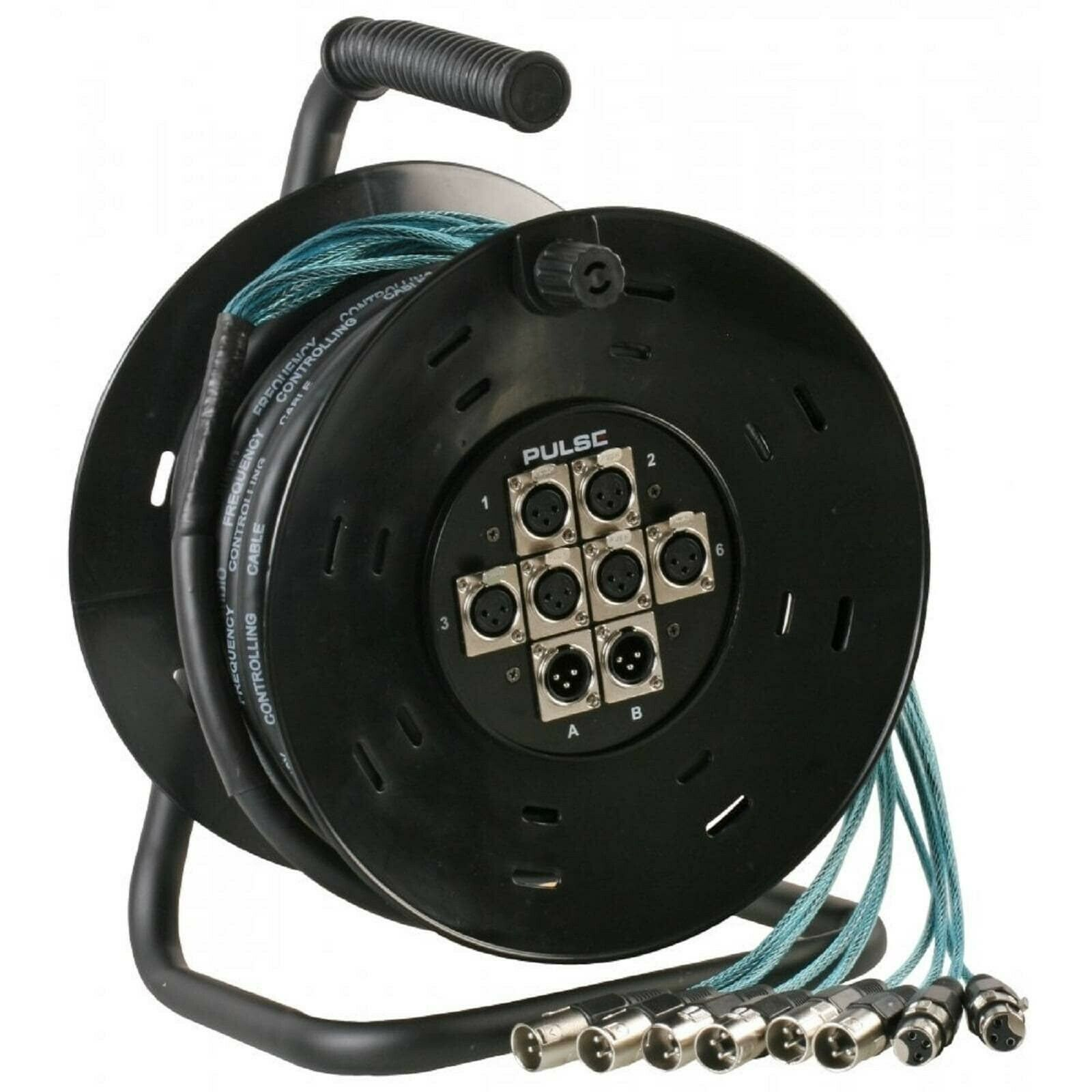 Pulse 25m 6 in 2-Out XLR Multicore Drum