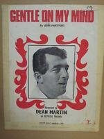 song sheet GENTLE ON MY MIND Dean Martin 1967