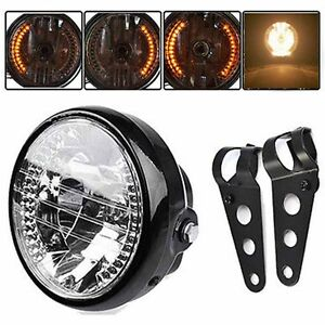 New Universal 7 Motorcycle Headlight Led Turn Signal Light Mount
