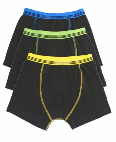 Garçons 3 Pack Boxers Trunks Sous-vêtements coton 2-6 Ans BNWT