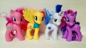 """4 - G4 My Little Pony MLP Brushable 6"""" inch Lot Armor Pinkie Twilight Fluttershy"""