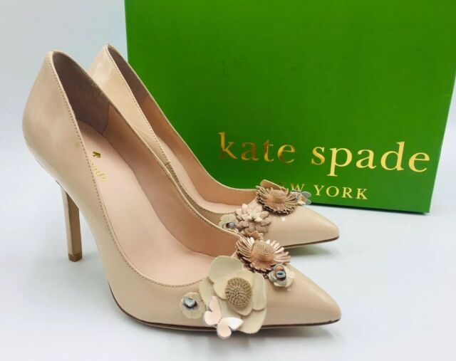 kate spade new york Women's Evelyn Embellished Pointed Toe Pumps Size 6M Pink
