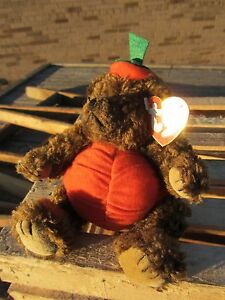 Ty Beanie Baby Peter Pumpkin Bear Trick Or Treat Approx 6