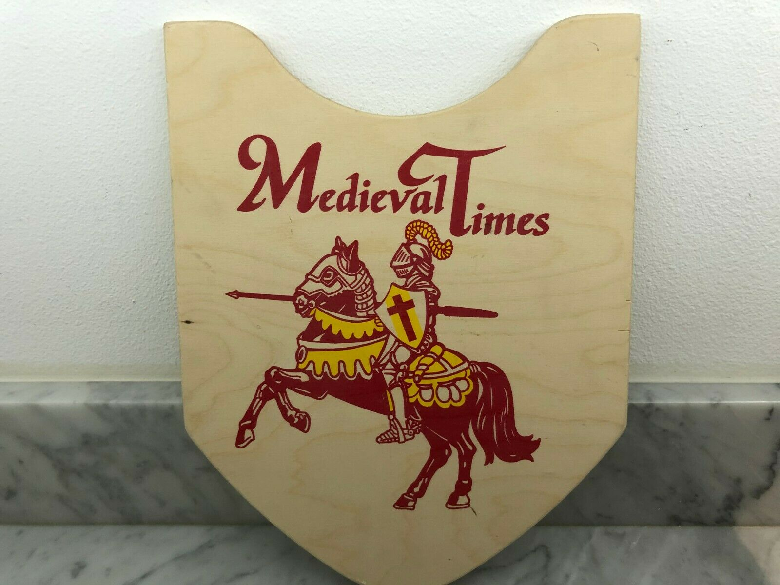Medieval Times Wooden red Knights shield