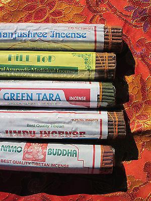 5 FAT ROLLS - VARIETY & great price! CLOSE TO 1lb TIBETAN BUDDHIST INCENSE NEPAL