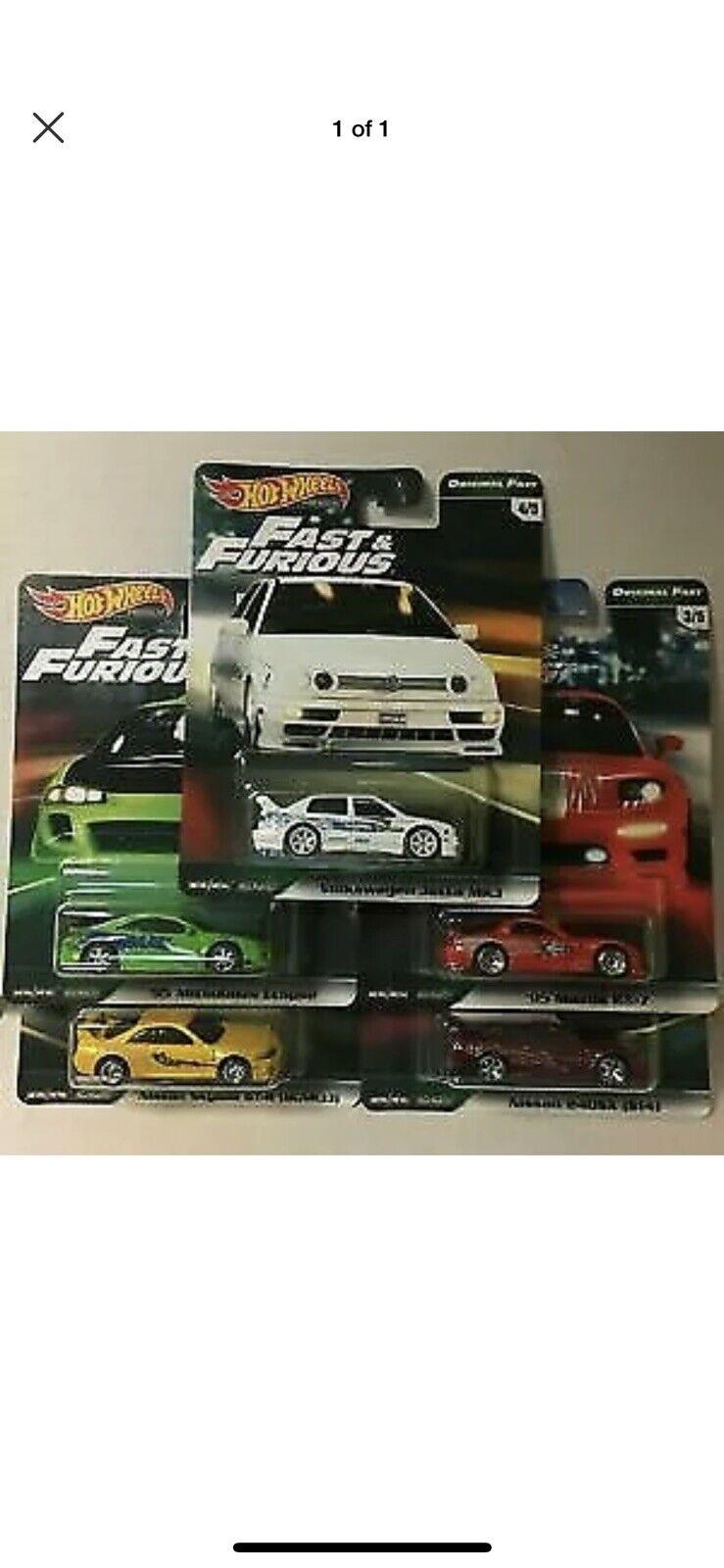 Hot Wheels Fast & Furious Original Set
