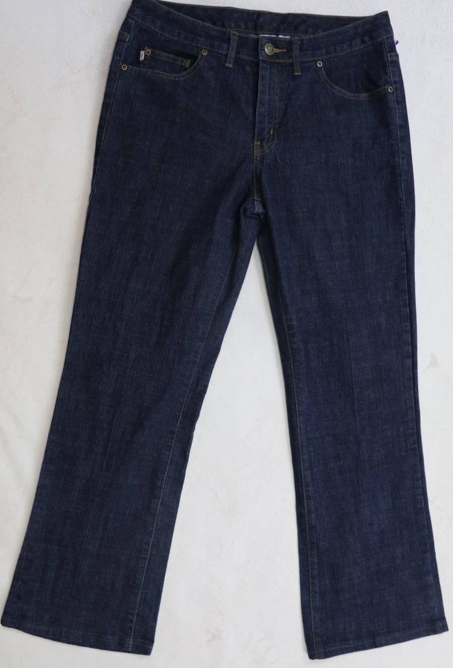 BOBBIE BROOKS JEANS Boot Mint 10 30 x 28 dark wash Mid Rise stretch dressy
