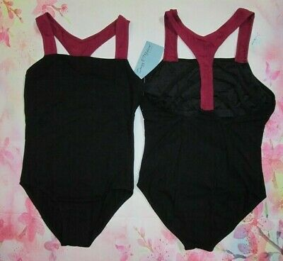 NEW Dance Leotard SA MA LA Adult Black Ruffle Sleeve Lyrical Ballet Women S M L