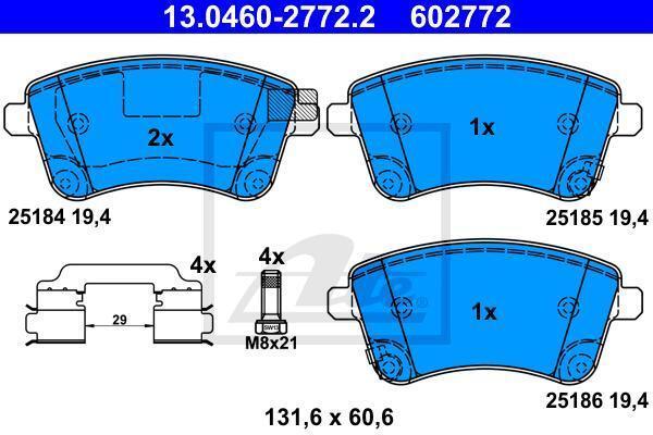 Blue Print ADG042117 Bremsbelagsatz vorne, 4 Bremsbel/äge
