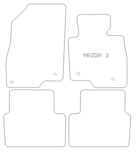 Mazda 3 2013 Mk Iii completamente ajustados de 4 piezas de goma estera del coche Set 4 Clips