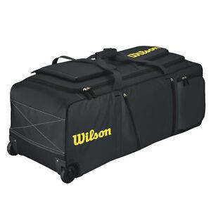 Wilson Pudge Catchers Bag On Wheels Black Ebay
