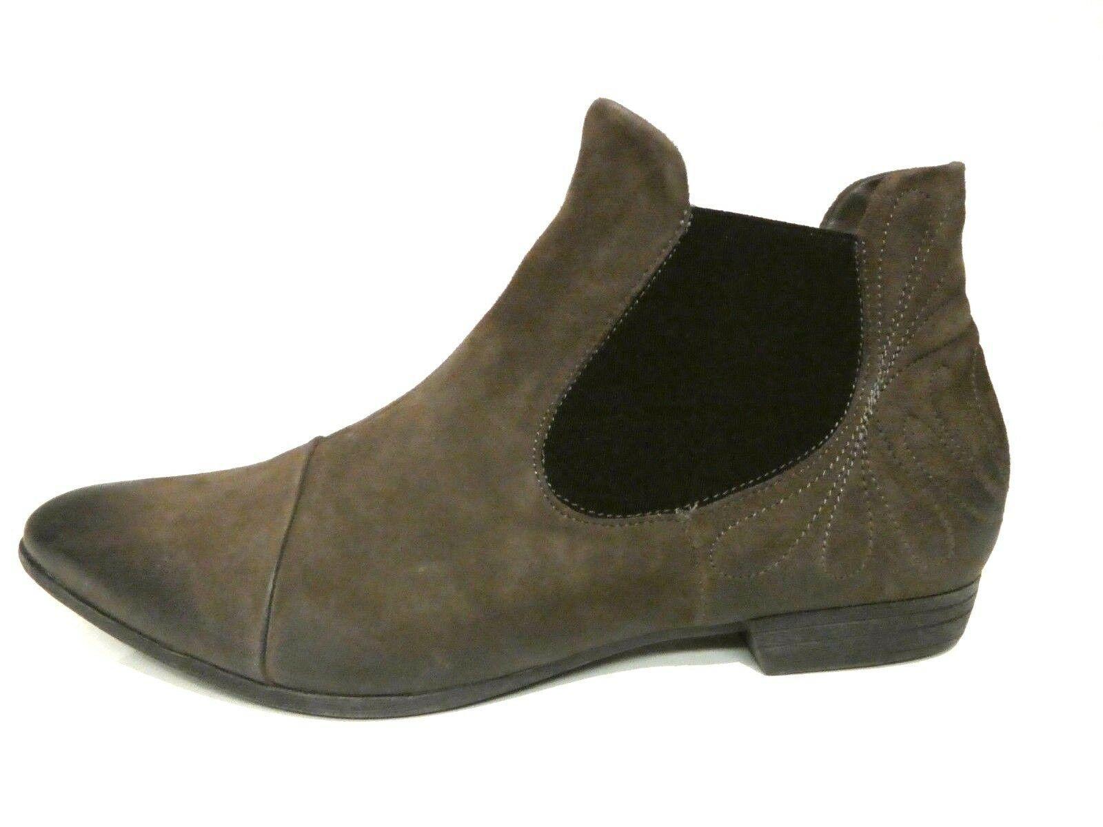 Think  Schuhe Stiefeletten Chelsea Stiefel Bussi Western braun Leder Lederfutter