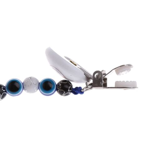 Blue Eye Baby Kids Pacifier Chain Clip Holders Dummy Soother Nipple Strap Gift