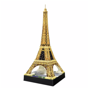 Eiffel Tower 3D Puzzle with Lights, Xmas Christmas Gift Toy, 216 Quality Pieces