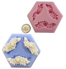 Flowers&Leaf Silicone Cake Mold Decorating Lace Impression Mat Baking Tool
