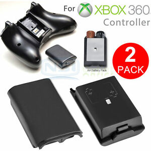 2PCS-AA-Battery-Back-Cover-Case-Shell-Pack-For-Xbox-360-Wireless-Controller-USA