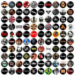 1 x Choose Your Own Heavy Metal 32mm BUTTON PIN BADGE Death Black Thrash Band