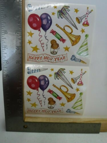 FRANCES MEYER HAPPY NEW YEAR PARTY BALLOONS HATS STICKERS NEW A25014