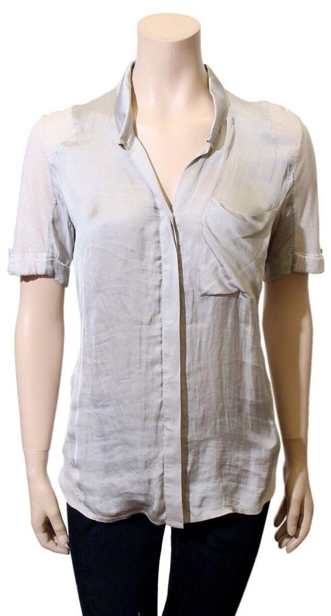 HELMUT LANG Short Sleeve Blouse (Größe P)