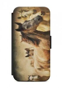 HTC-ONE-Cavallo-Motivo-V2-Custodia-Flip-Case-Cover-Protezione-cellulare