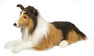"Lassie the Collie Stuffed Animal by Douglas 22"" Long Beautiful Plush Dog 1844"