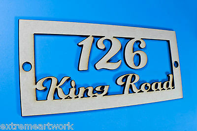 PERSONALISED CUSTOM MDF WOOD PAINT HOME HOUSE DOOR STREET NUMBER SIGNS PLAQUES